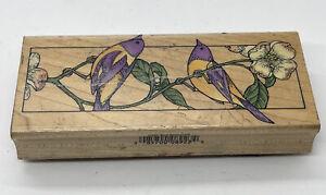 Vintage Wood Rubber Stamp H923 Bird Bookmark Hero Arts 1994