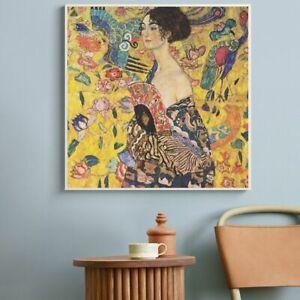 Artist Gustav Klimt Kiss Abstract Oil Painting On Canvas Print Wall Art Unframed