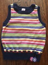 Gymboree Vintage CANDY SHOPPE EUC 5 Blue/green/pink stripe sweater vest