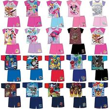 Boys Girls Kids Baby Toddler Teenage Character Short Pyjamas pjs 1,5-12 Years