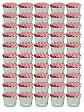 75 Sturzgläser 230 ml Marmeladengläser Einmachgläser Einweckgläser roter Deckel