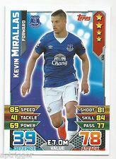 2015 / 2016 EPL Match Attax Base Card (106) Kevin MIRALLAS Everton