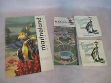E2  Vintage 1954 Marineland Booklet 1959 Brochure & Porpoise Room Napkins
