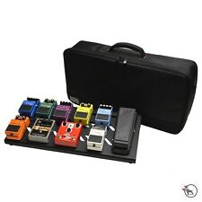Gator GPB-BAK-1 Stealth Black Aluminum Guitar Effects Pedal Board & Carry Bag