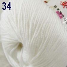 Sale New 1Ball x 50g Cashmere Silk Wool Hand Knit Wrap Shawls Crochet Yarn 34