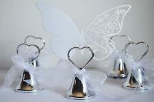 12 campanelle tirabaci+12 farfalle segnaposto matrimonio segnatavola sposi sposa