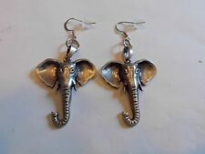 Ohrring silberfarbenem Elefantenkopf mit Rüssel große Ohren aus Edelstahl 5070