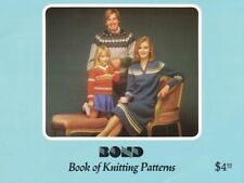 Bonk Book of Knitting Patterns 1983 Pullover Sweaters Skirt Hat Scarf & More