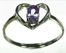 Purple Sapphire Sterling Silver Lady,s Ring RSS1056