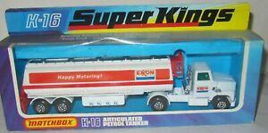MATCHBOX SUPER KINGS K-16 PETROL TANKER 'EXXON' TRUCK MIB