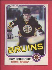 1981-82 O-PEE-CHEE Hockey # 1 RAY BOURQUE