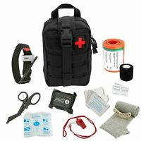 ASATechmed Tactical First Aid Emergency Medical Kit w/ MOLLE Pouch