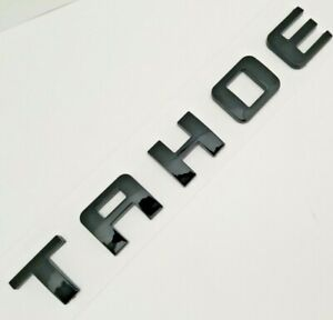 1 BLACK TAHOE FIT CHEVY REAR TRUNK TAILGATE LIFTGATE EMBLEM BADGE DECAL 1995-17