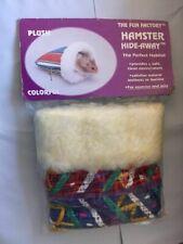 "MALIBU FUN FACTORY HAMSTER HIDE AWAY 5.5"" COMFY COZY COLOR SOFT SMALL ANIMAL BED"