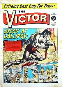 VICTOR - 7th JANUARY 1967 (2 - 8 Jan) RARE 55th BIRTHDAY GIFT !! VG+ beano eagle