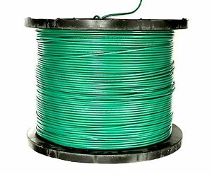 300' FT MTW MACHINE TOOL PRIMARY 10 AWG GAUGE GREEN COPPER STRANDED GROUND WIRE