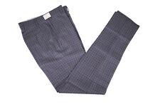 Zanella NWOT Flat Front Dress Pants Size 30 in Blue Gray w Multi Plaid Curtis