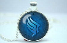Mass Effect - Paragon Symbol - Silver Tone Photo Glass Dome Necklace Pendant