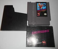 Vintage Original Nintendo Nes Excitebike Course Video Game & Manuel