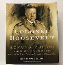 Colonel Roosevelt unabridged audio CDs by Edmund Morris Like New Pulitzer win