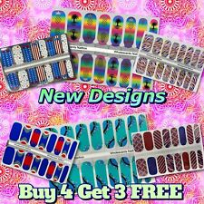 Color Nail Polish Strips Buy 4 Get 3 Free Exclusive Glitters Ombre Summer