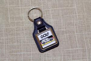 VW Golf Mk3 Keyring - Leatherette and Chrome Keytag
