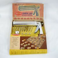 Vintage Wear-Ever Cookie Gun & Pastry Decorator #3365 Aluminum Complete Working
