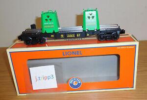 LIONEL 6-36829 ALEIN RADIOACTIVE WASTE AREA 51 OPERATING TRAIN CAR GROOM LAKE RR