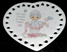 You Have Touched So Many Hearts Precious Moments Mini Collector's Plate 4""