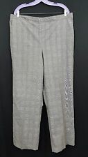 NWT ALFRED DUNNER Elastic Waistband Stretch Dress Pants Grey Plus Sized 40W