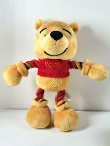 "Winnie the Pooh Bear Dan Dee Plush Disney w/ Spiral Thread Arms 9"" DanDee Doll"