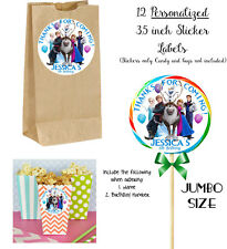 12 FROZEN Personalize JUMBO STICKERS for Lollipops, goody bags, birthday party