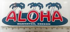 Vintage Aloha large trailer Rv sticker decal