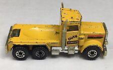 Old Vintage Matchox Yellow Peterbilt Dirty Dumper Dump Truck Toy Diecast Truck