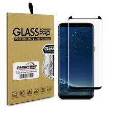 Samsung Galaxy S8 Tempered Glass Screen Protector, Black Edge, Full Curved Cover