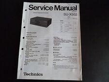 Original Service Manual Technics su-x502