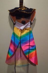 Happy Halloween Pet Costume Poncho and Hat for Dogs Size Small/Medium