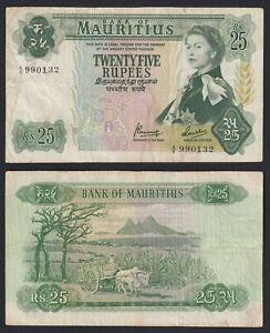 Mauritius 25 Rupees 1967 BB / VF A-01