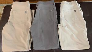 Footjoy Athletic Fit Golf Pants Men's 32x28 Lot of 3 Beige & Gray