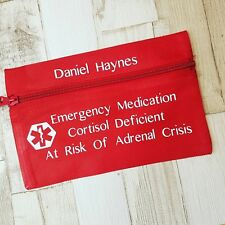 Personalised Emergency Medical Pouch, Epi-pen Case, Steroid Injection Holder