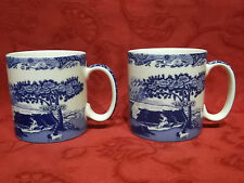 Spode Blue Italian Pair of 0.25 ltr Coffee Mug / Mugs - New & Unused