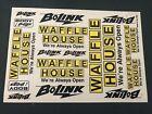 Bolink Waffle House Sticker Decal Sheet
