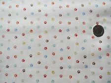 Crafty GATTI Paws su crema del tessuto FQ 50 x 56 cm MAKOWER mk1725q 100% COTONE