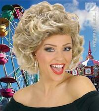 Blonde Curly Olivia Newton John Wig Sandy Grease Fancy Dress