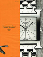 PUBLICITE ADVERTISING 045  1998  HERMES  coll montre homme  HEURE H