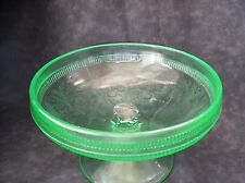 CHERRY BERRY, GREEN, DEPRESSION GLASS COMPOTE 5 3/4 INCH--U.S. GLASS CO.