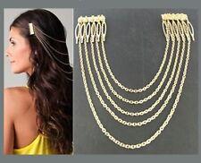 Tassel Leaf Comb Clip Cuff Pin Head Chain Jeweller Headband Hair Bridal Bride UK