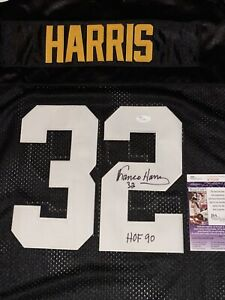 Franco Harris Signed Pittsburgh Steelers Mitchell & Ness Jersey JSA COA HOF 90