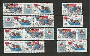 """DDR Briefmarken Kombi-komplett """"Nat. Jugendfestival d. FDJ"""" Mi.2878-79 saub.TGSt"""