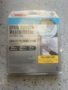 Frost King V27G Epdm Rubber Weather-strip Tape 10ft Grey 9/16 wide 5/16 thick